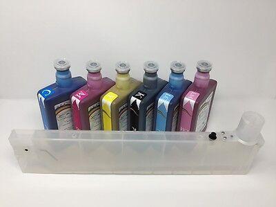 6 Jetbest Eco Solvent Ink 500ml 12 Refillable Cart For Roland Xc Sc Sj Xj