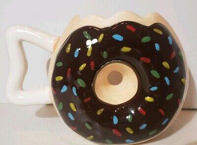 Chocolate Sprinkle Donut (Donut Shaped Mug Chocolate Sprinkle Doughnut Coffee Cup New. )