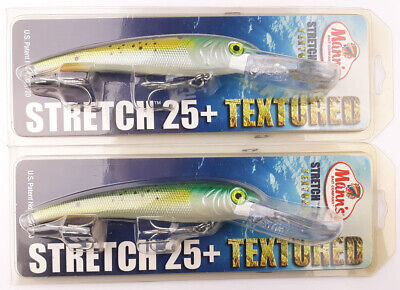 Mann/'s Bait Co Stretch 25 Textured Trolling Bait  Saltwater Lure Mullet New