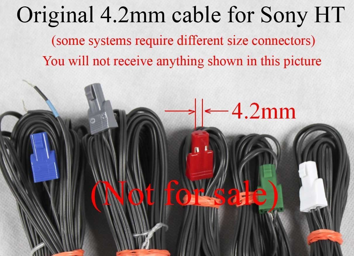 Home Theater Cable Wiring 6c 42mm Speaker Wire Plug Connectors Made For Select Sony