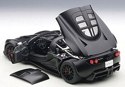 Autoart Hennessey Venom Gt Spyder Matt Carbon Black 1 18 New Release  In Stock