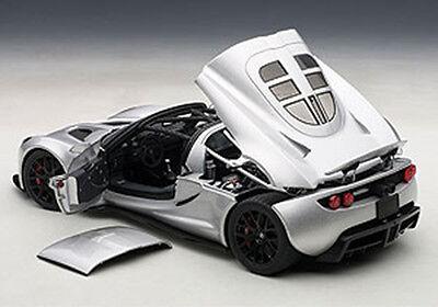 Autoart Hennessey Venom Gt Spyder Silver 1 18 Scale  New Release  In Stock
