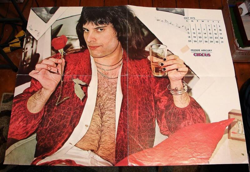 Freddie Mercury Poster Circus Magazine May 1975 Poster Only