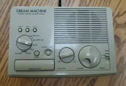 SONY VINTAGE DREAM MACHINE ICF-C3W RETRO DIGITAL ALARM CLOCK AM/FM RADIO WORKS!