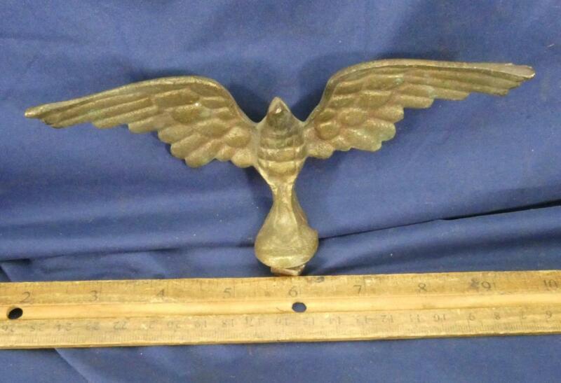 VINTAGE EAGLE BRASS Spread Wings Flag Pole Topper Finial Clock Decorative Screw!