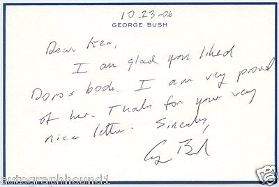 George H W Bush Signed Autographed Handwritten Letter Note Jsa Coa Spence Wow