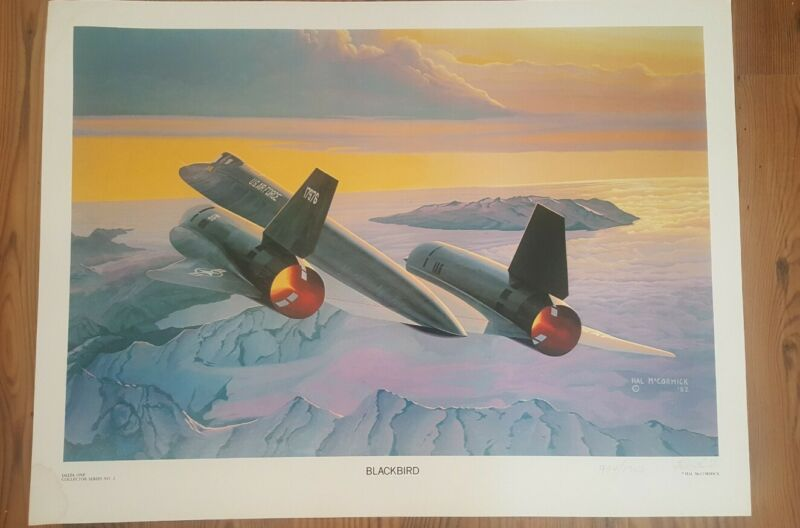 """Aviation Art Print  """"BLACKBIRD"""" - Signed & Numbered by Hal McCormick"""