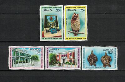 Jamaica 1980: #484-488 Centenary Institute of Jamaica Owl, Turtle NH:Lot#7/24