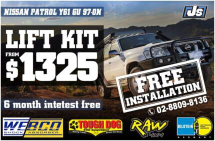 Multiple-Choice Suspension lift kit Nissan Patrol GU 99-ON