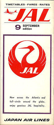 JAL Japan Air Lines international timetable 9/67 [5061]