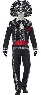 Herren Tag der Toten Leiche Bräutigam Halloween Kostüm Kleid Outfit S-XL