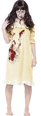 Ladies Zombie Possessed Demon Exorcist Halloween Fancy Dress Costume Outfit 4-18 (Exorcist Halloween Costumes)