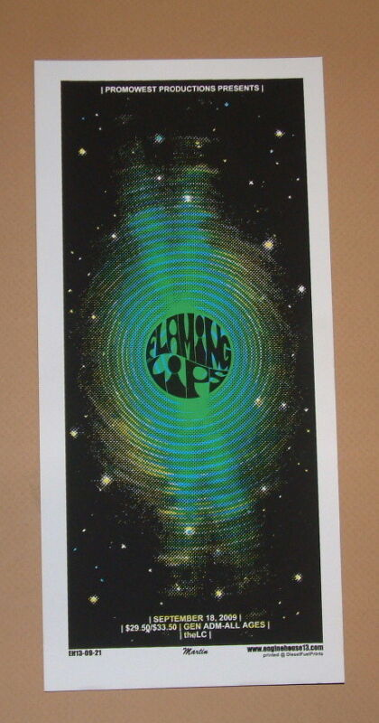 Flaming Lips Wayne Coyne Columbus Mike Martin Concert Poster Handbill Print 2009