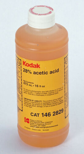 Kodak 28% Acetic Acid (stop bath) - 16 Ounce (Factory Sealed)
