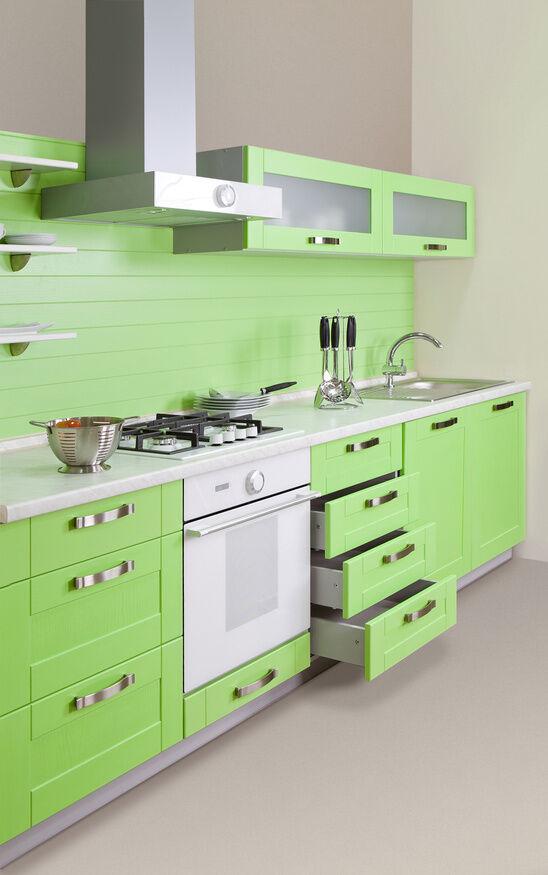k chenzeilen beliebte stile von klassisch bis romantisch ebay. Black Bedroom Furniture Sets. Home Design Ideas