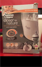 NEW Tommee Tippee Electric Steam Steriliser
