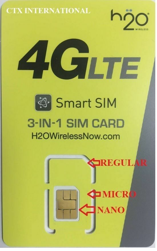 H2O wireless 3 in 1 sim card, 30% off 1st Month payment with