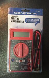 Cen-Tech Digital Multimeter Volt AC DC Tester Meter Voltmeter Ohmeter
