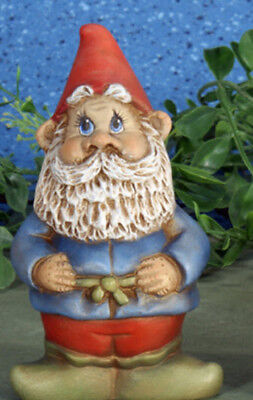 "Ceramic Bisque Ready to Paint Small Gnome 5"" Tall ~~FREE SHIPPING"