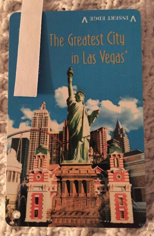 NEW YORK - NEW YORK Hotel & Casino Las Vegas Nevada Slot Exchange Player's Card