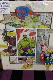 Comic art picture, small poster size unframed.