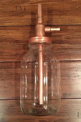 Wide Mouth Mason Jar Thumper DIY Kit 100% Copper Lid Alcohol Distiller Thumpkeg