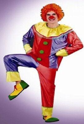 TRENDY CLOWN Kostüm Gr L Karneval Halloween Junggesellenabschied Herren Horror