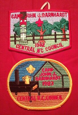 Camp John J Barnhardt 1982 And 1983 Boy Scout Camp Patches Mint on Rummage