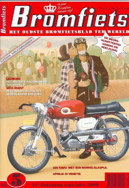 BROMFIETS Dutch Moped Magazine Issue S/Oct.06(NEW COPY)