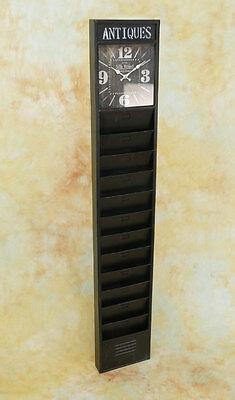 Zeitungshalter 180cm Uhr Prospekthalter Ladendekoration Wanduhr Standuhr MU286-a