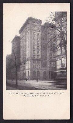 USA NY NEW YORK Hotel Majestic c1902 u/b PPC