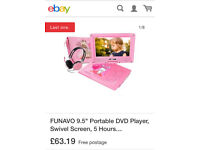 REDUCED Personal DVD player / tablet. Pink or blue