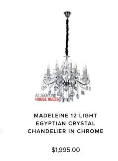 Crystal Chandeliers Egyptian crystals - CLOSING DOWN CLEARANCE ...