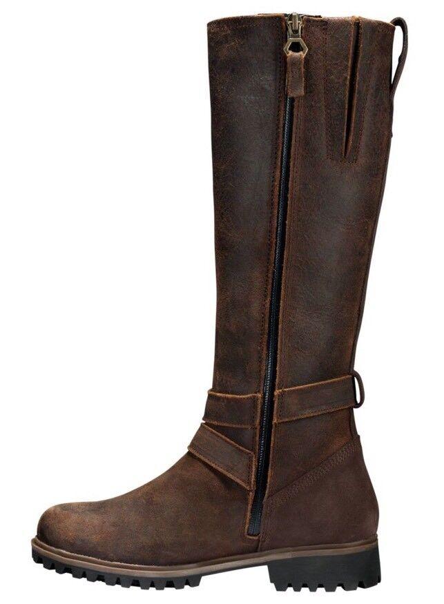 Timberland Women's Wheelwright Tall Buckle Waterproof Boots W/Calf A1950. SZ:7 1