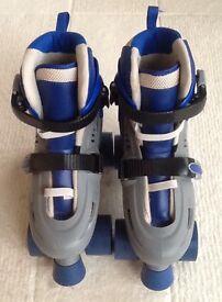 Childrens Adults 4 Wheel Kids Boys Girls Adjustable Quad Roller Skates Boots