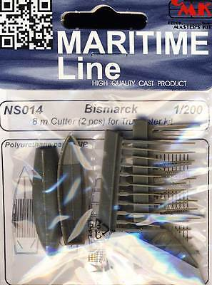 CMK Bismarck 2x 8m Cutter / Rettungsboote Schiffe 1:200 Trumpeter Modell-Bausatz