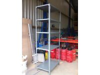 5 TIER SHOP GARAGE CONTAINER WORKSHOP SHED MINI METAL RACKING SHELVING BAY