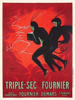 French Wine Fournier 1907 Cappiello Vintage Liquor Giclee Canvas Print 20x26