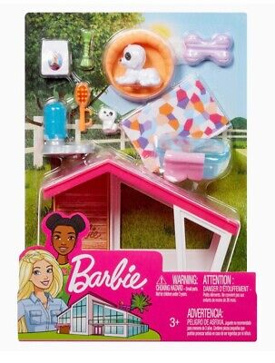 Barbie Estate Outdoor Furniture- Dog House & Accessories Playset