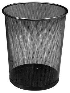 Papierkorb Metall 19 Liter - schwarz - Bürokorb Mülleimer Papiereimer Abfallkorb