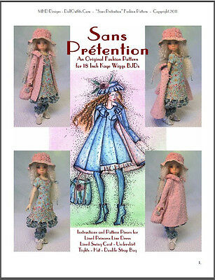 """""""Sans Prétention"""" Fashion Pattern for 18"""" Ball Jointed Doll - Kaye Wiggs BJDs"""