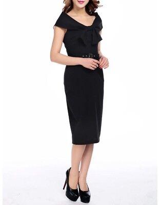 Chic Star Black Pencil Dress Gothic Elegant Pin-Up Corporate PLUS SIZE