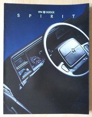 DODGE Spirit orig 1994 USA Mkt sales brochure
