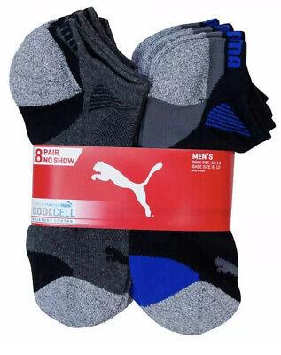 Puma Men's No Show Sock 8-pair Multi Regular Sock size 10-13