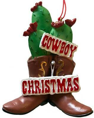 Cactus Cowboy Boot Christmas Tree Country Western  Ornament, Decor or Gift ()