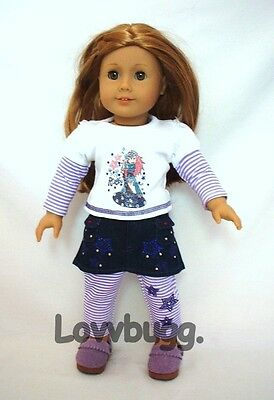 "Lovvbugg Rock Star Skirt n Leggings Set for 18"" American Girl Doll Clothes"