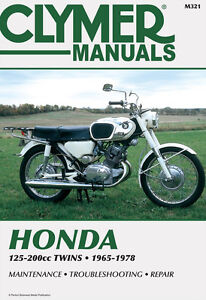 Clymer Repair Service Shop Manual Honda CL125A/160/175/200 CA160/175