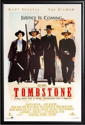 TOMBSTONE MOVIE POSTER FRAMED