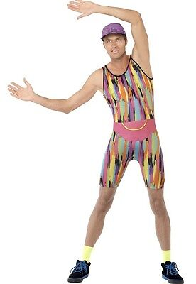 Herren Herr Motivator 1990s 90er Jahre Aerobic Tv Promi Kostüm Kleid - Herr Motivator Kostüm
