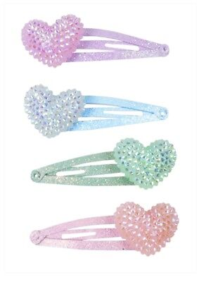 Girls's Sparkle Heart Bobble Hair Clips for sale  Shipping to India